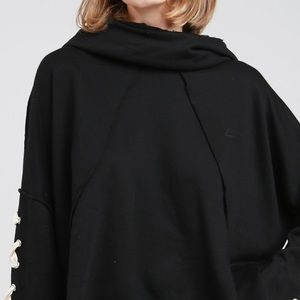 POL Sweaters - POL black oversized heavy weight hoodie